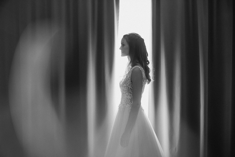 Wedding portrait of the bride.