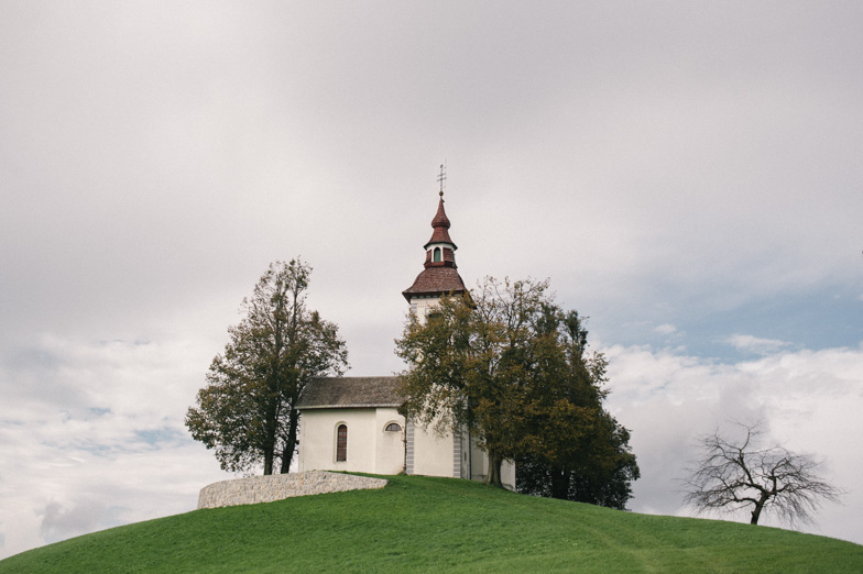 Photo of the Church of the St. Tomaž nad Praprotnem where the wedding took place.