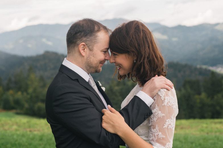 Portrait of the wedding couple.