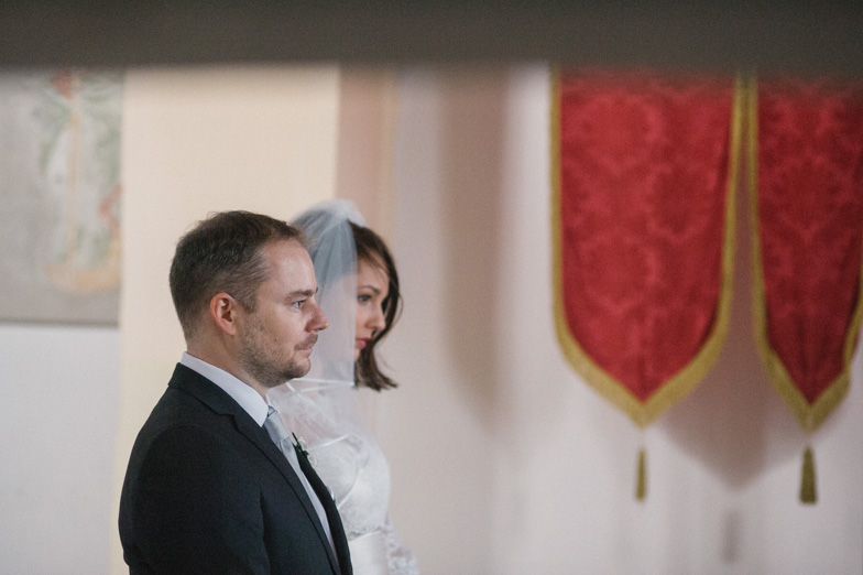 Bride and groom who entered the Holy Law.