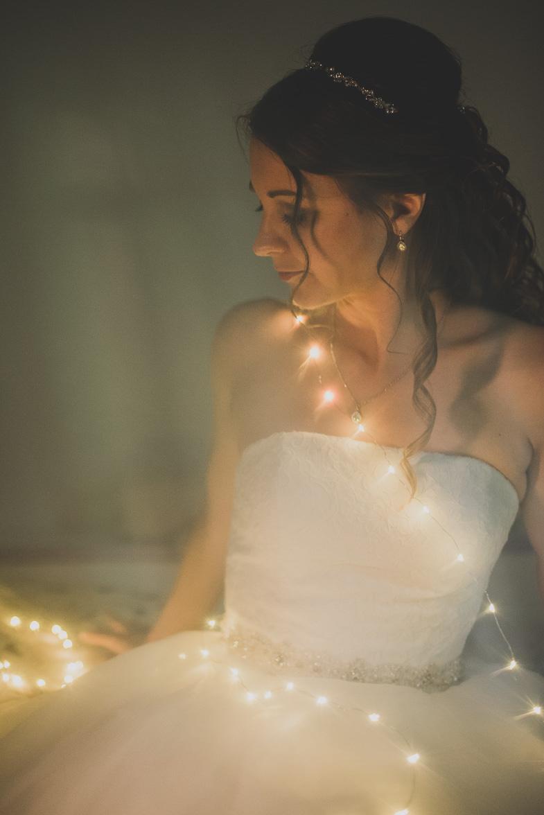 An example of a unique wedding portrait of a bride.