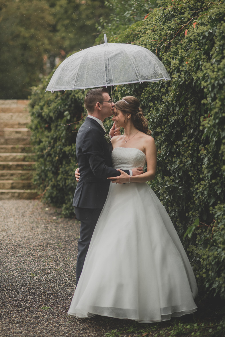 A photo of a couple who hired a bridal photographer.