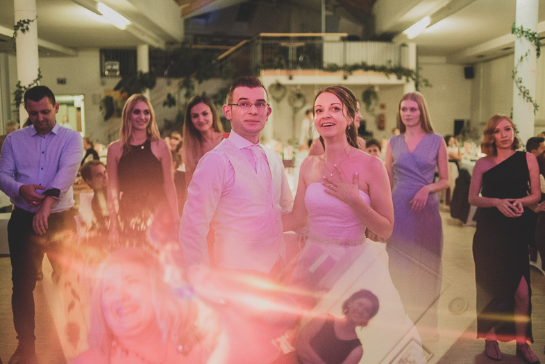 Photography from a wedding party.