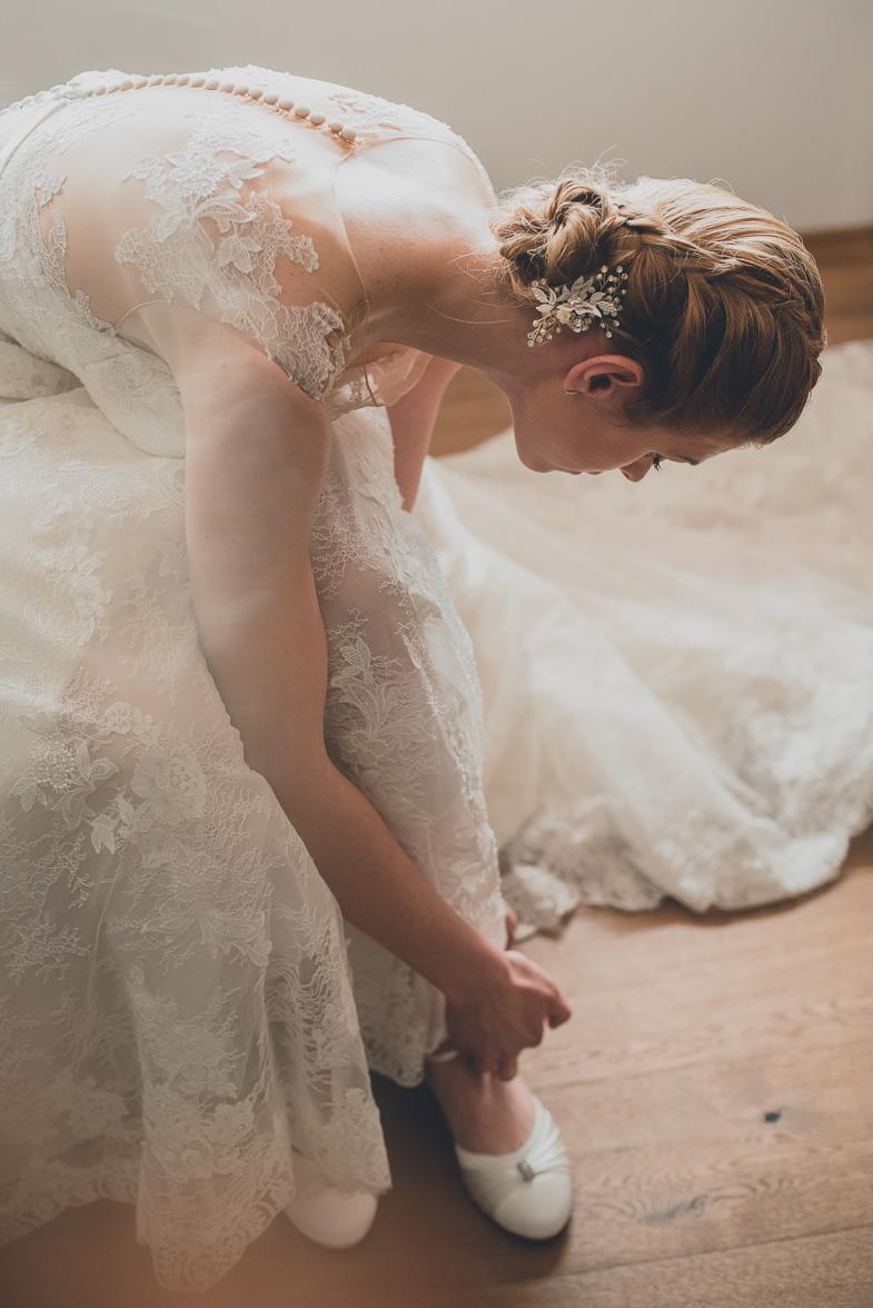 Wedding portrait of the bride.