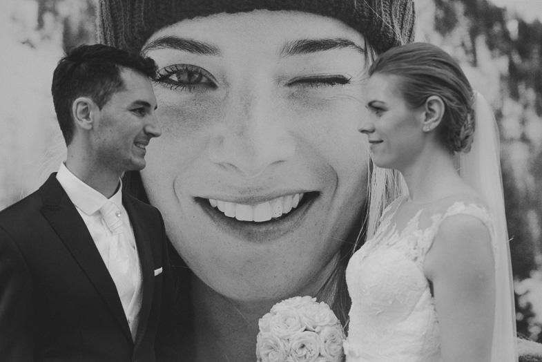 Ein Beispiel für ein Hochzeitspaar photoshooting.