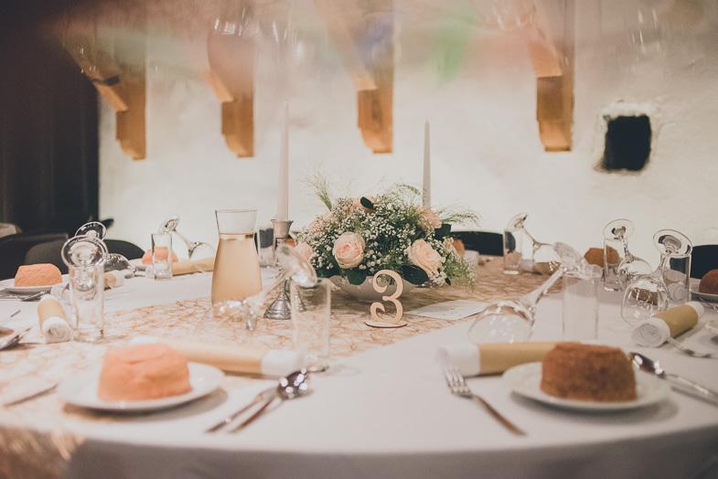 Primer sedežnega reda na poročni večerji.