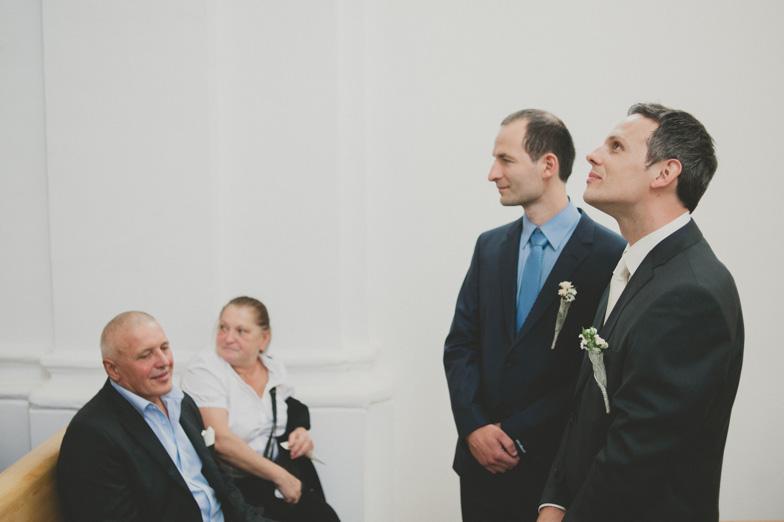 Photo of the groom and his  witness