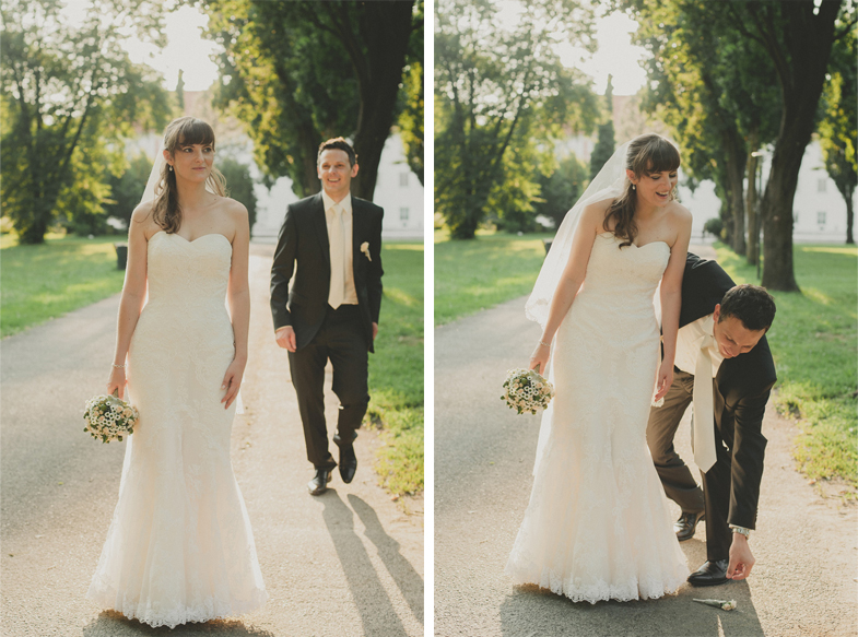 Wedding photography with bride and groom.