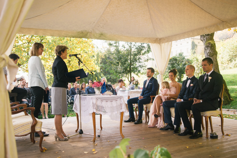 Photo of the wedding civil ceremony in Gorenjska region.