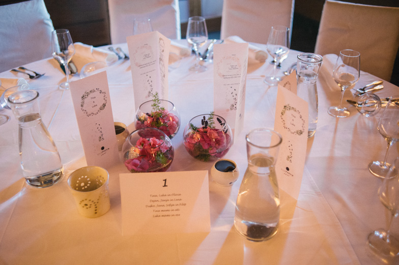 An example of a seat order at a wedding.