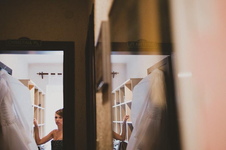 Preparing a bride on a wedding day.