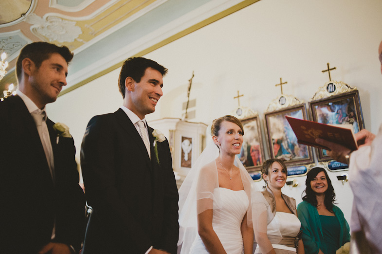 Photo of the groom and bride with their witnesses.