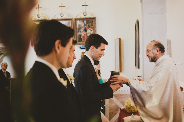 The course of the church wedding.