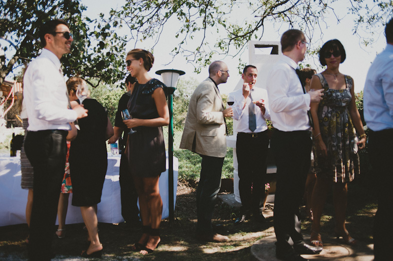 Guests at a wedding near Trieste.