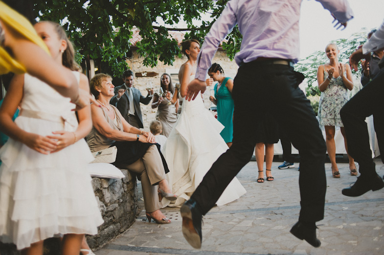 Fun and dance at the wedding.