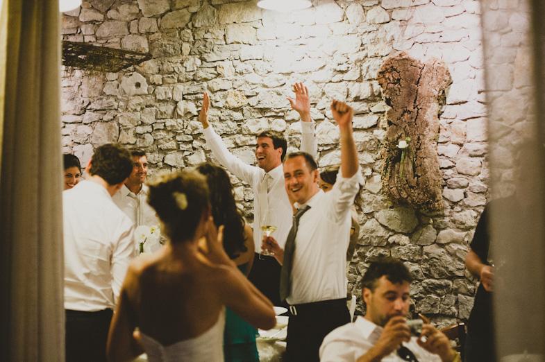 Wedding party in indoor places.