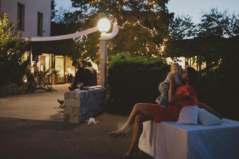 Evening fun at the wedding.