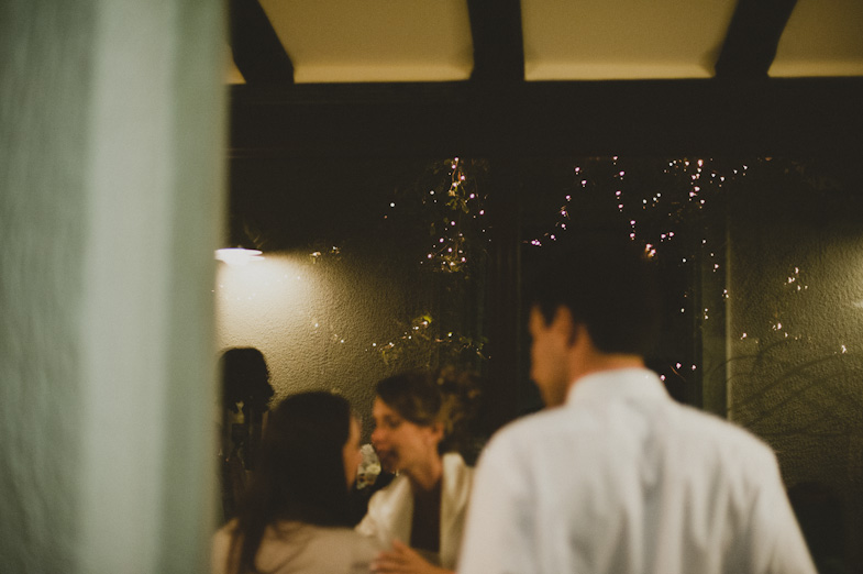 Guests are leaving the wedding after midnight.