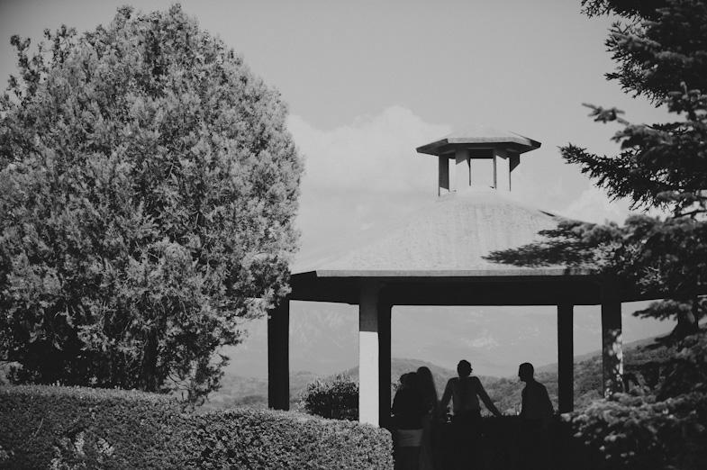 Photo of the wedding destination in Ferraris garden.