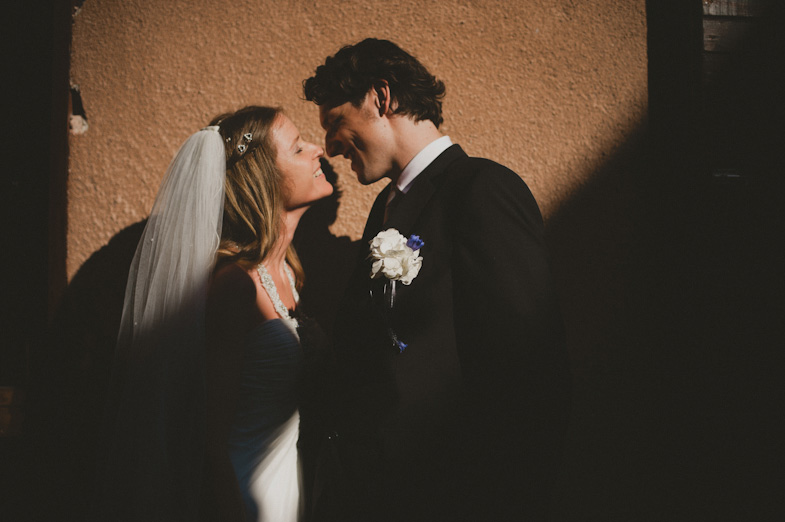 Example of photographing a wedding.
