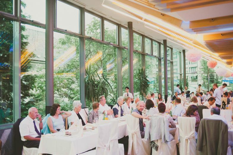 Fotografija s poročne večerje v hotelu Cerkno.