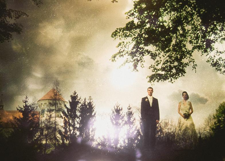 Poročni eksperiment - Umetniška poročna fotografija - Slovenski poročni fotograf