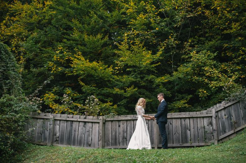 Fotografija romantične poroke.