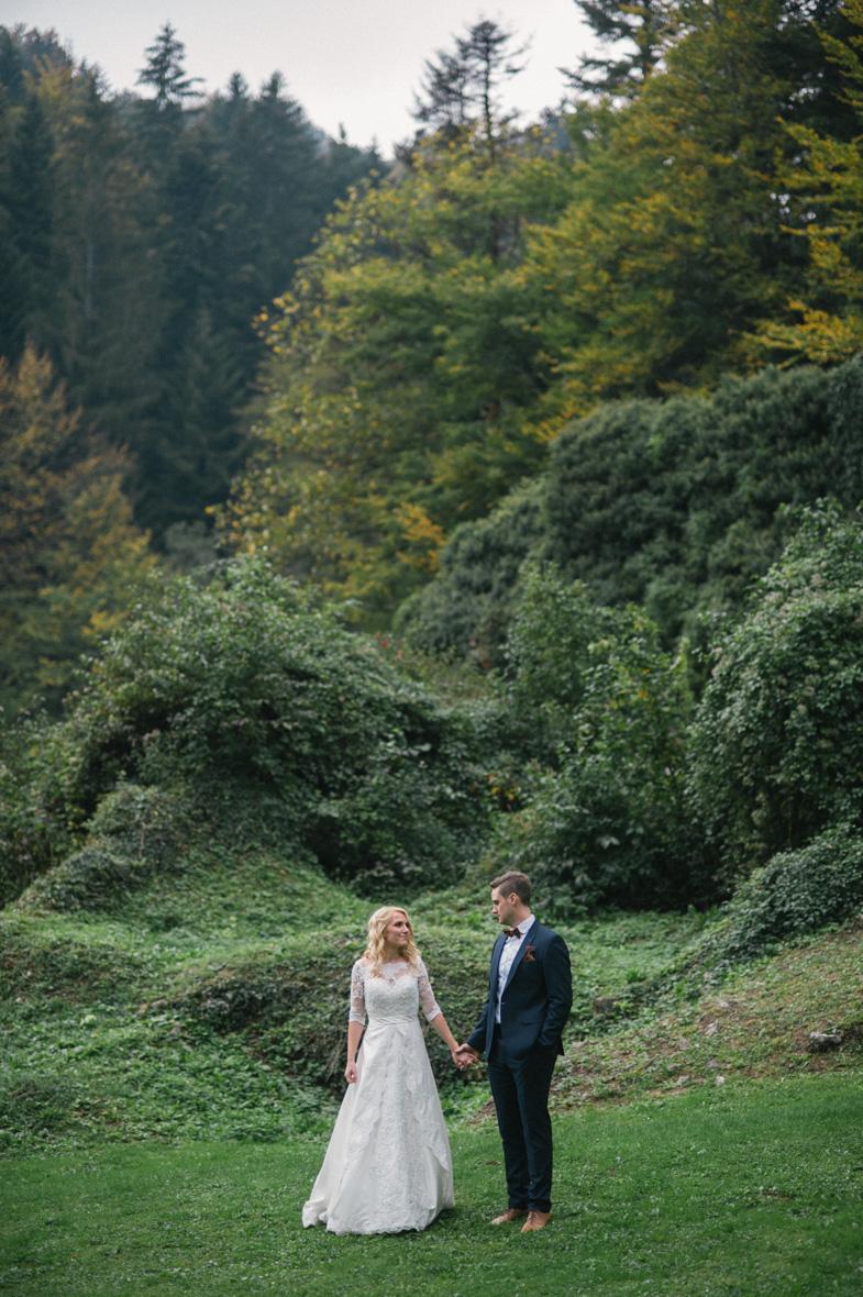 Ein Beispiel für ein Hochzeitspaar fotografieren.