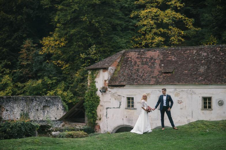 Fotografija popolnega poročnega dne.