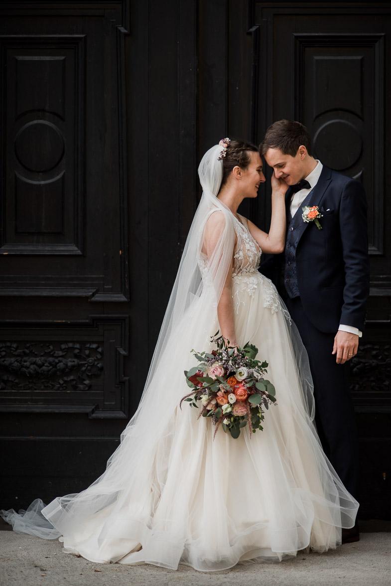 Poroka v centru Ljubljane.