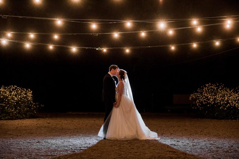 Večerno fotografiranje poročnega para.