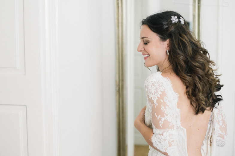 Photo of the wedding hairstyle.