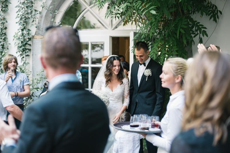 Photograph of a wedding location in the center of Ljubljana, Slovenia.