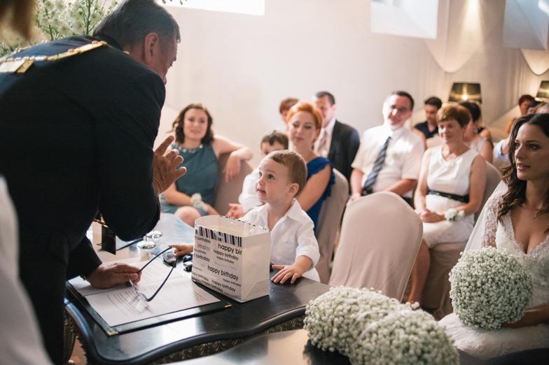 Photo of the civil ceremony under the leadership of Zoran Jankovic.