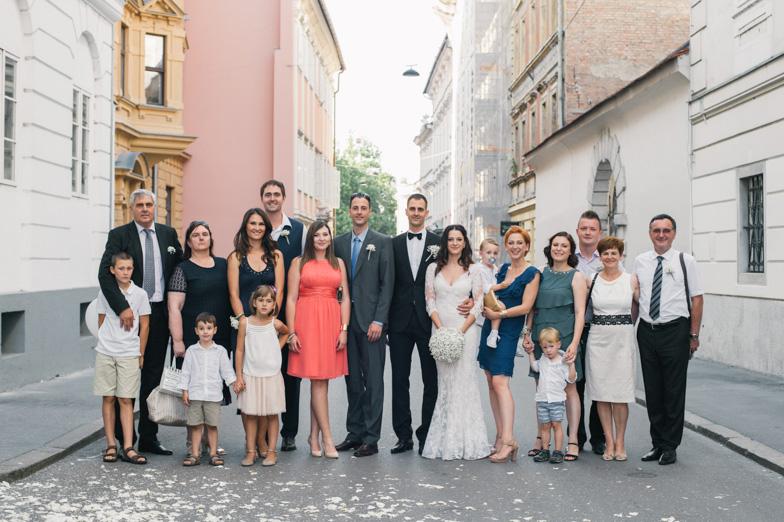 Wedding photo of the Lorbek family.