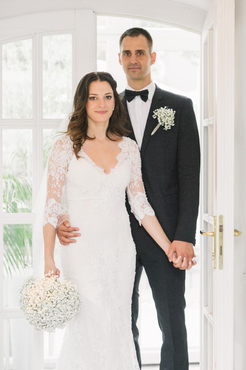 Wedding portrait of Martina and Domen Lorbek