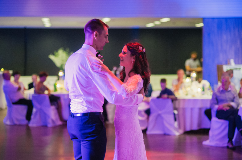 The first dance at the wedding.
