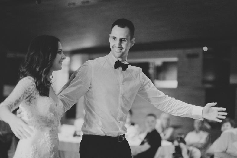 Photo of the wedding dance.