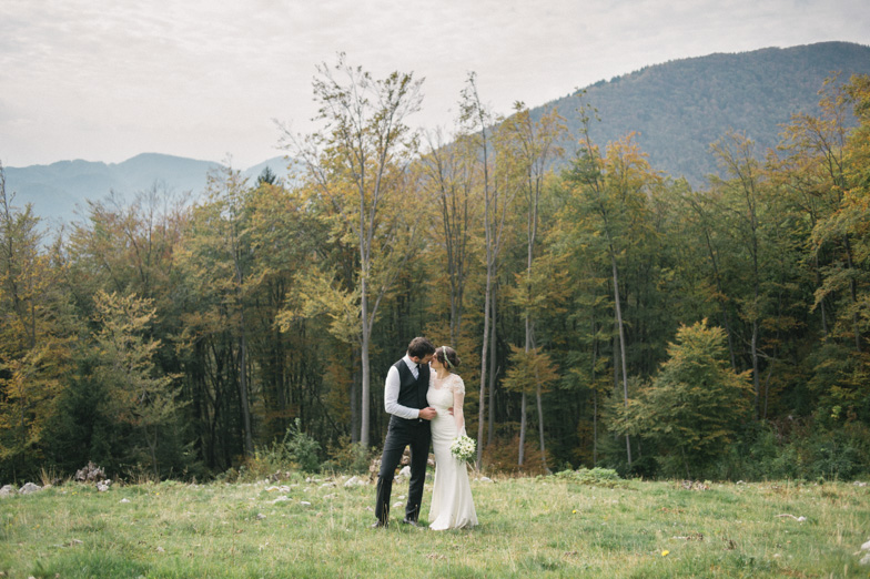 Primer poročne fotografije.