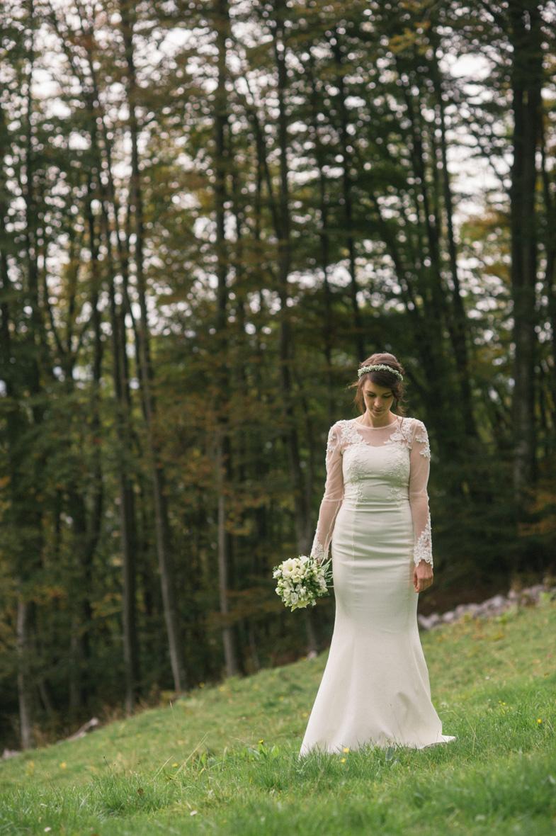 Photo of romantic wedding dress.
