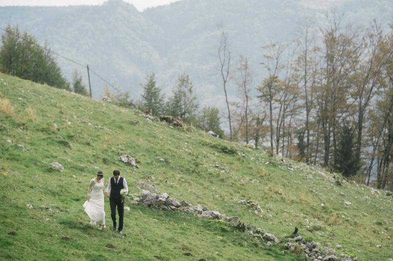 Čudovita poročna fotografija.
