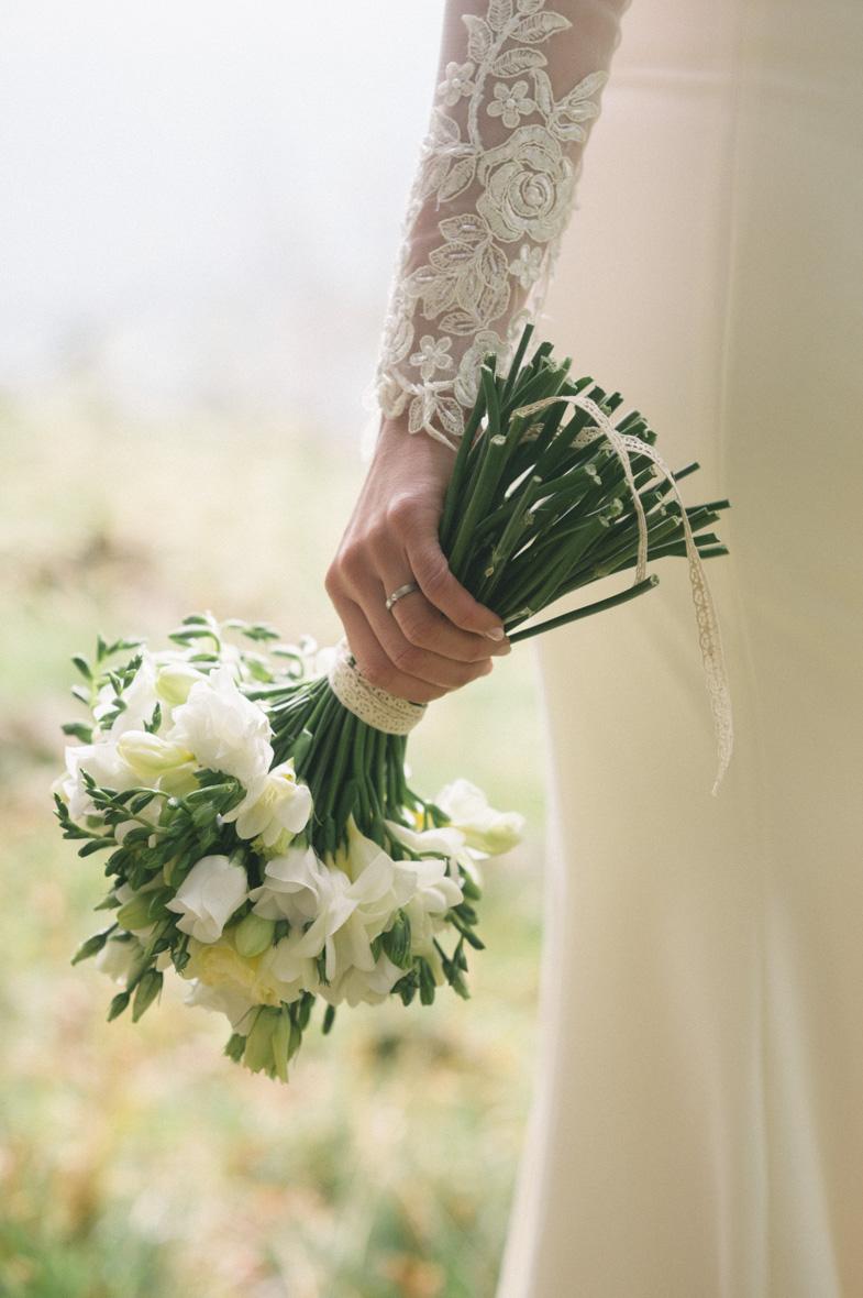 Photograph of wedding flowers.