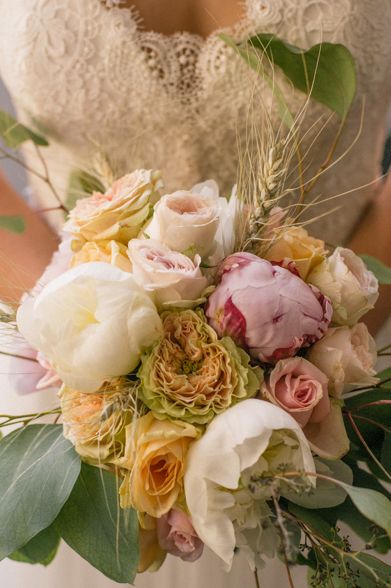 Photograph of wedding flowers.