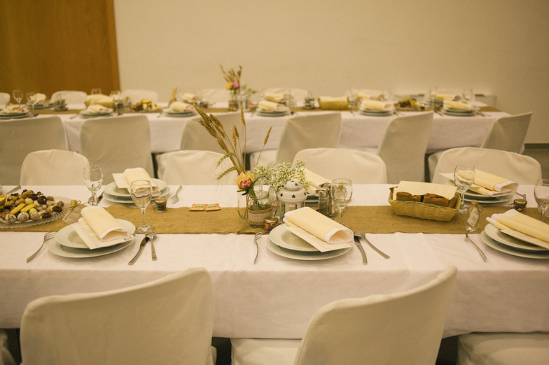 Photo of the wedding table.