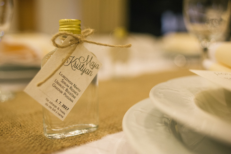 Photo of the wedding gift for the guests named Elixir of Love.