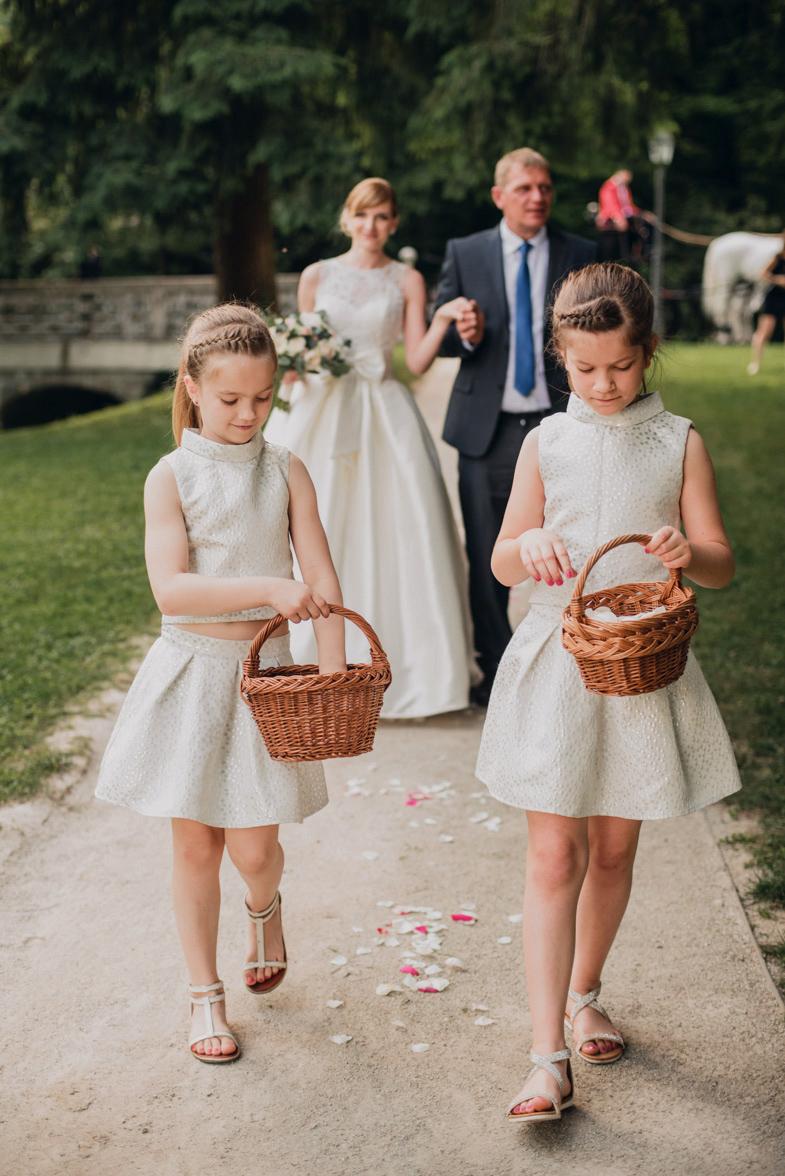 Photo of the wedding flowergirls.