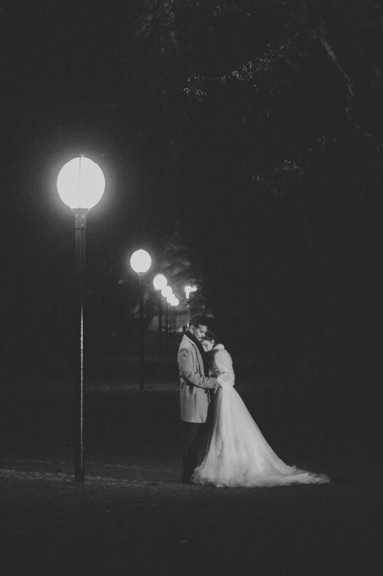 Evening wedding photography.