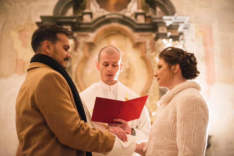 Photograph of the couple who decided to have a church wedding in the castle chapel.