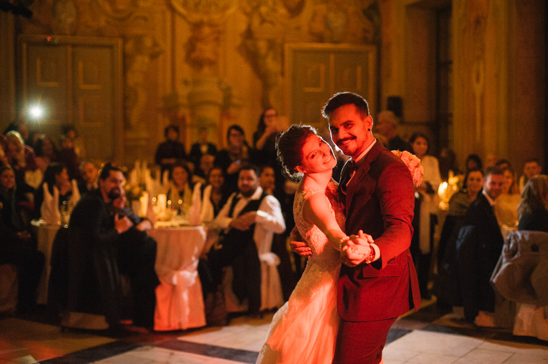 The wedding dance of the newlyweds.