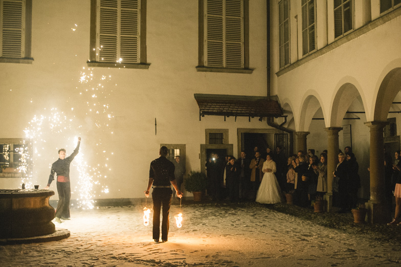 A fiery show surprise at the wedding.